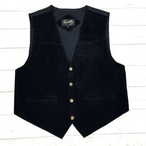 Scully Mens Western Cowboy Leather Adjustable Vest